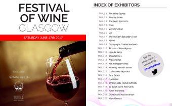 Glasgow wine festival catalogue