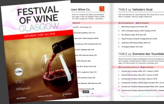 2018 Glasgow Festival of Wine Catalogue